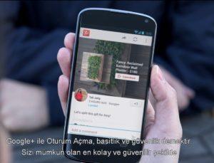 Android iOS uygulamalarına Google Plus ile oturum açma
