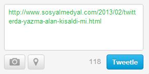 Twitter 140 karakter yazma alanı kısaldı mı