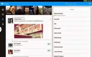 Twitter Android Tablet Uygulaması Arayüzü