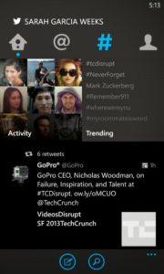Windows Phone Twitter Uygualası Ekran Görüntüsü