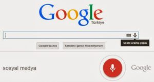 Google sesli arama Türkçe