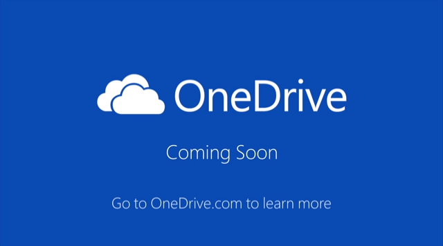 Skydrive name is change OneDrive