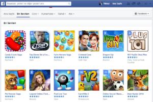 Facebook En Çok Sevilen Kullanılan Oyunlar/Uygulamalar