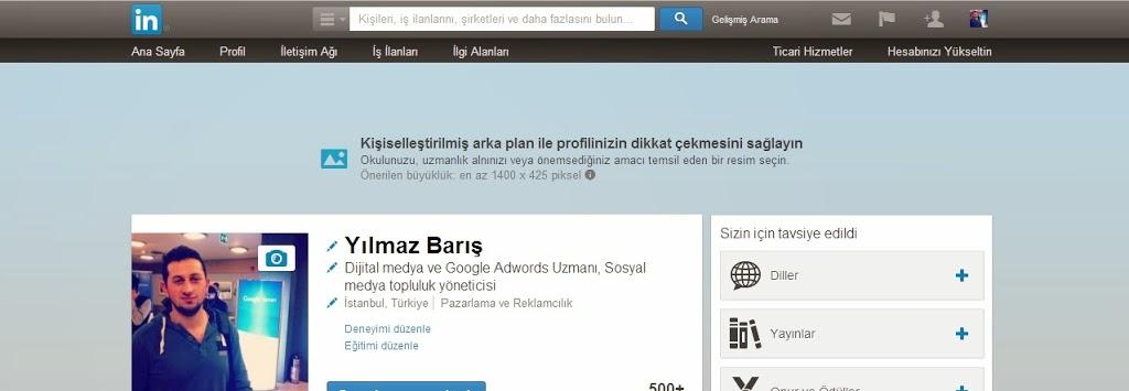 Linkedin'de Arkaplan Tasarımını Özelleştirme