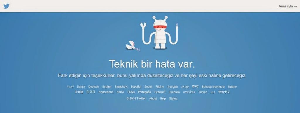 Twitter Çöktü twittera giriş yapılamıyor