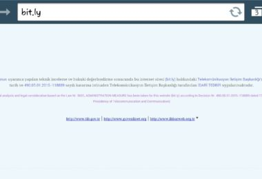 Bit.ly link kısaltma ve istatistik servisi engellendi