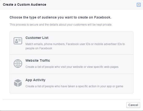 Facebook reklamları özel hedef kitlesi oluşturma