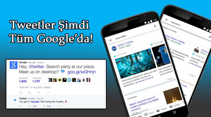 Twitter Google arama sonuçları
