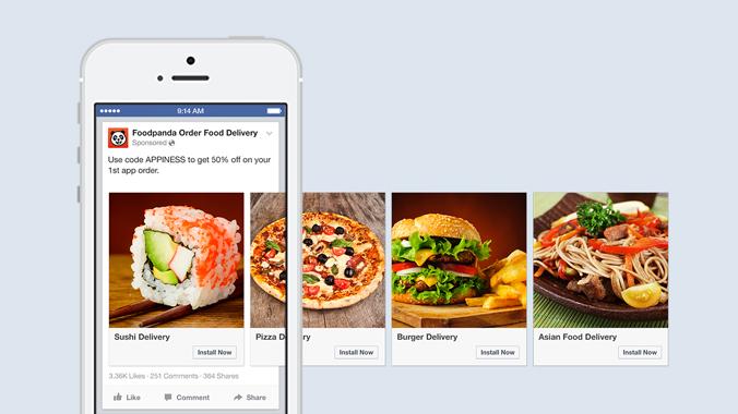 Facebook Carousel Döner Format ReklamlarYemek Fastfood