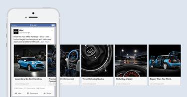 Facebook Carousel Döner Format Reklamlar Mini Cooper