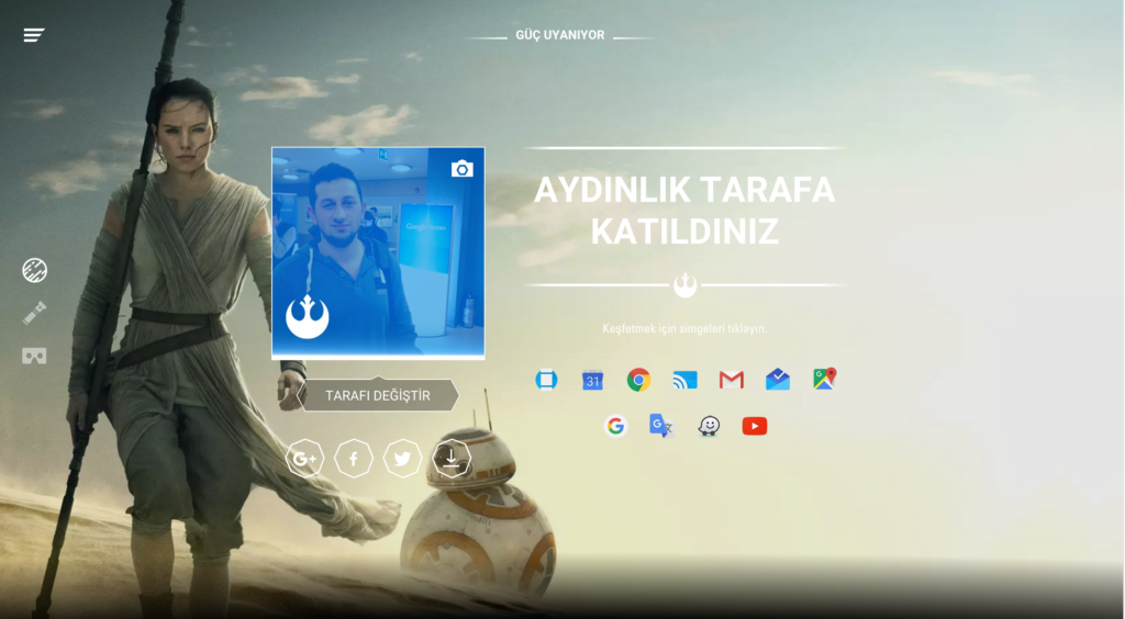Google Gmail YouTube Star Wars Kaldırma Arkaplan Tema