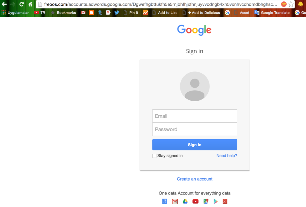 Google Adwords Sahte Sayfa