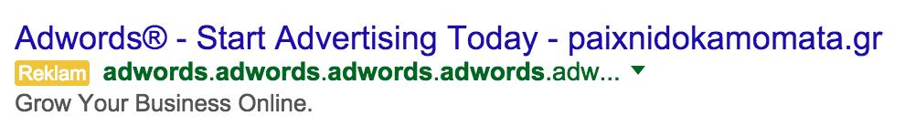 Google Adwords Hilesi ile kredi kartı bilgisi çalma.