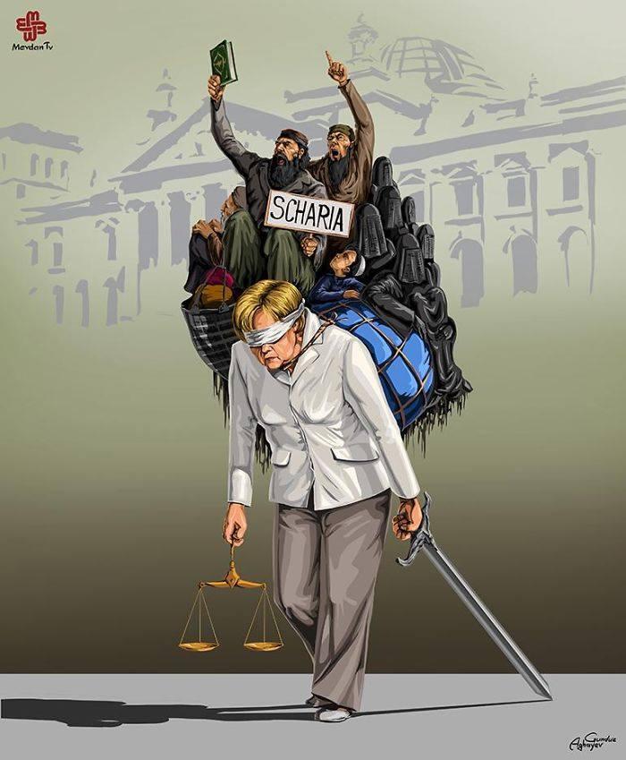 İllüstratör Adalet ve Almanya by Gündüz Agayev