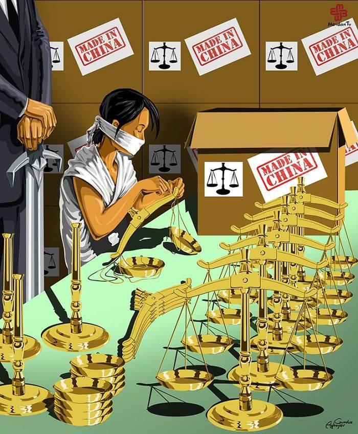 İllüstratör Adalet ve Çin by Gündüz Agayev