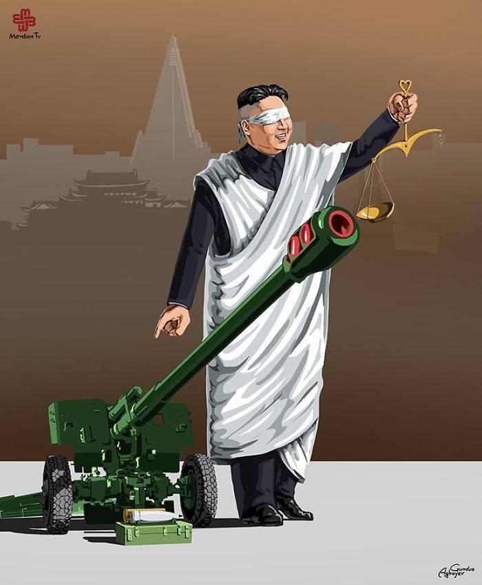İllüstratör Adalet ve Kuzey Kore by Gündüz Agayev