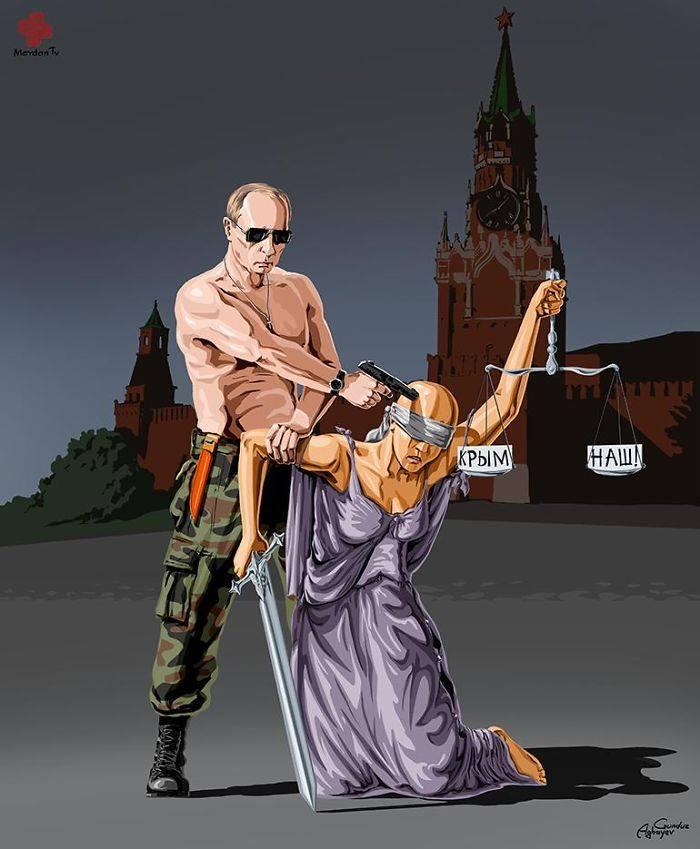 İllüstratör Adalet ve Rusya by Gündüz Agayev