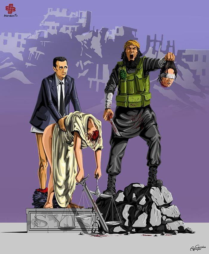 İllüstratör Adalet ve Suriye by Gündüz Agayev