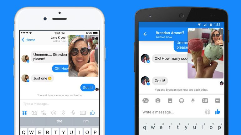 facebook canlı video görüşme messenger instant video