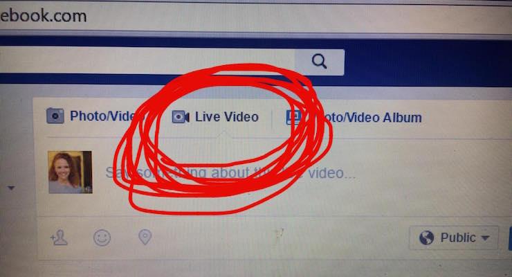 Facebook Canlı Yayın Desktop