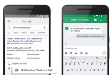 Adwords Mesaj Uzantıları SMS Uzantısı