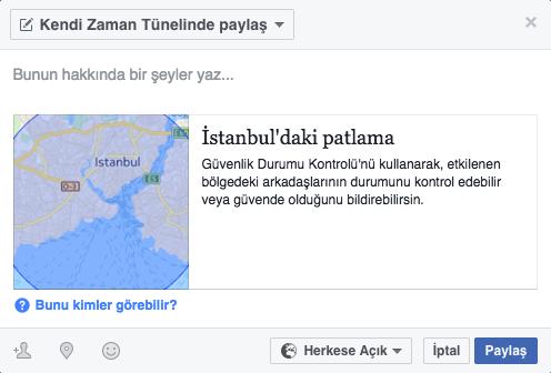 Facebook Patlama Güvenlik Durumu Kontrolü