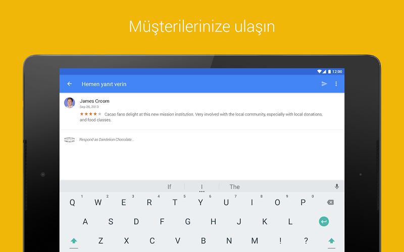 Google My Business Andorid Uygulaması Müşteirlere Yanıt Verme