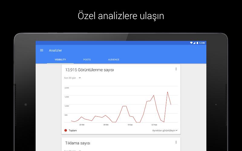 Google My Business Andorid Uygulaması Sayfa Analiz Raporu