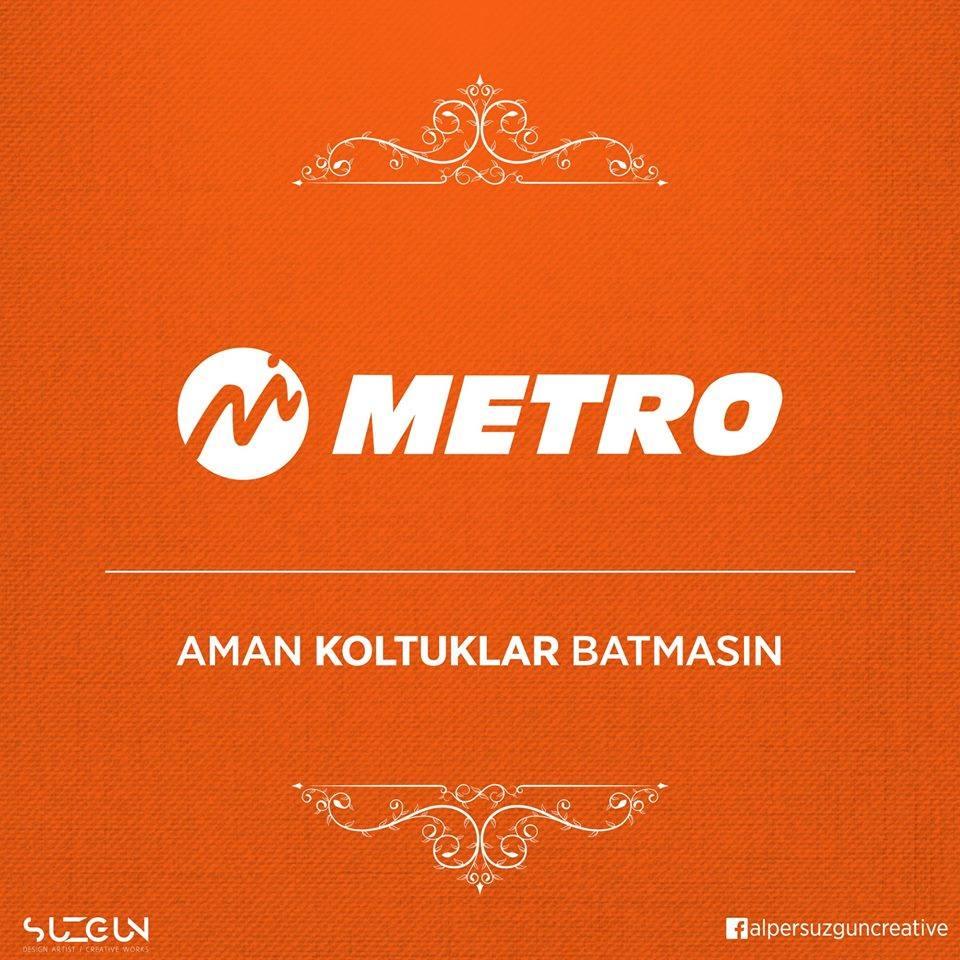 metro turizm marka tasarim slogan logo aman koltuklar batmasin