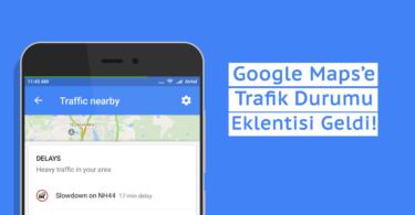 Google Maps Trafik Durumu eklentisi Traffic Nearby