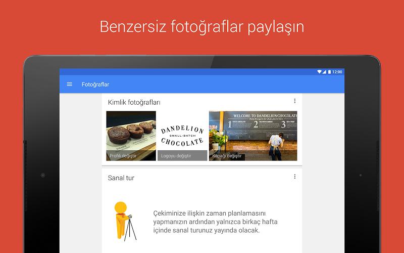 Google My Business Andorid Uygulaması fotoğraf paylaşma