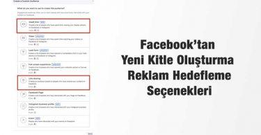 Facebook Yeni Reklam Hedefleme Seçenekleri